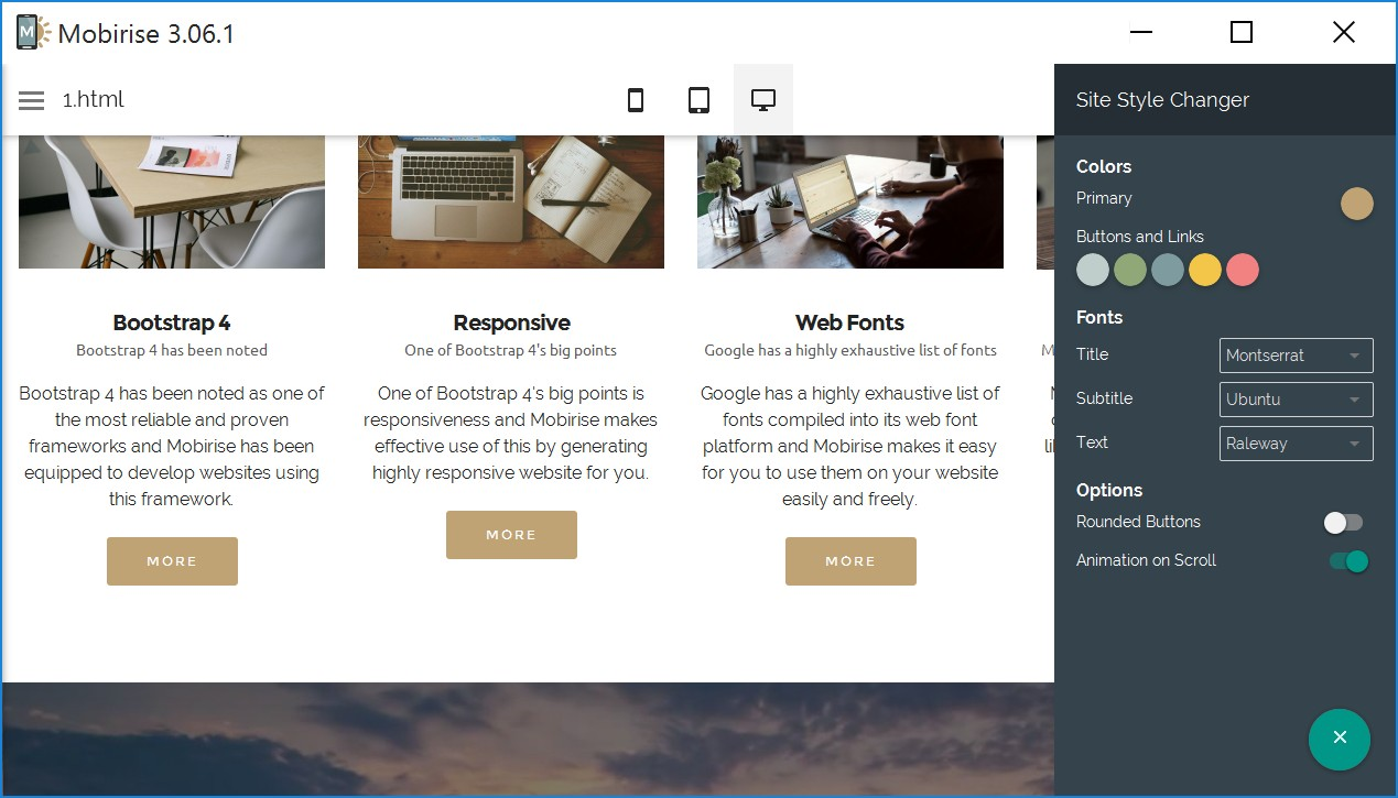 Simple Responsive Site Creator Software