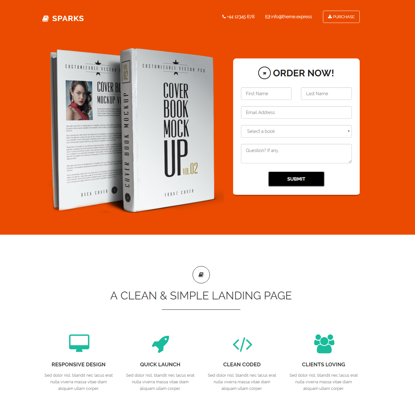 HTML5 Bootstrap Sparks Templates