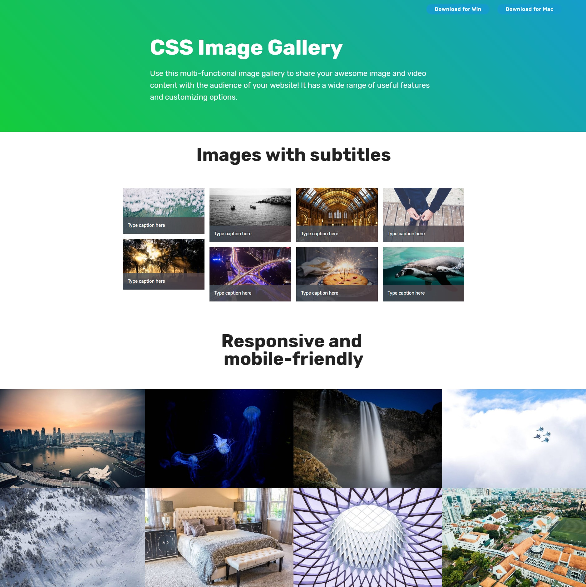 Responsive Bootstrap Image Gallery