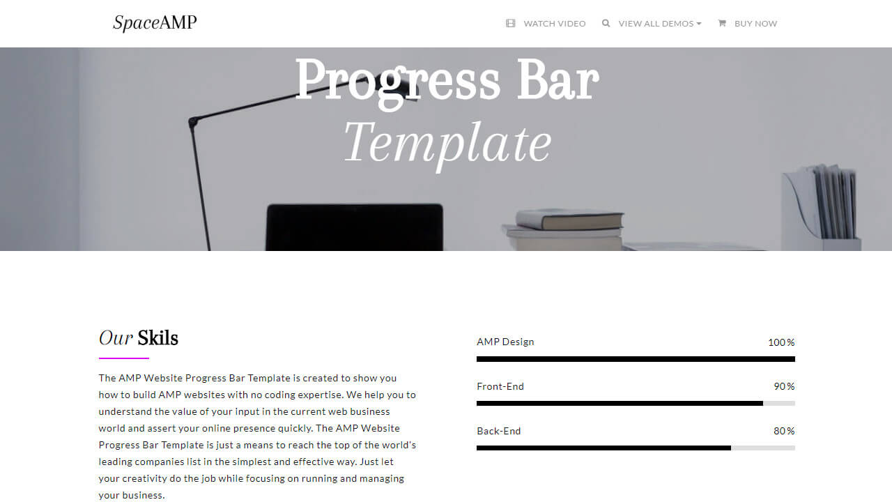 AMP Website Progress Bar Template